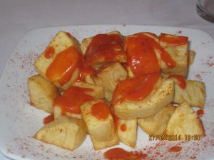 Patatas Bravas for lunch!