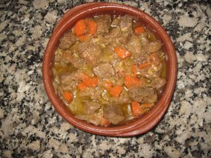 My version of Rick Stein's beef in white wine, Oviedo style