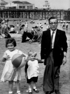 Me and my brother with Dad, Blackpool 1957