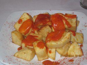 Patatas Bravas - unlike croquetas, the raciones are generous!